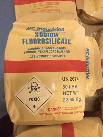 Toxic Sodium Fluorosilicate is likely added to your water.