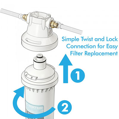 APEC CS-2500 Twist and Lock Filter