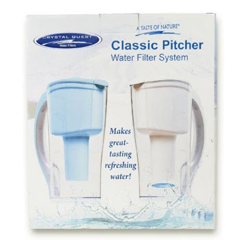 Crystal Quest Pitcher in the Package.