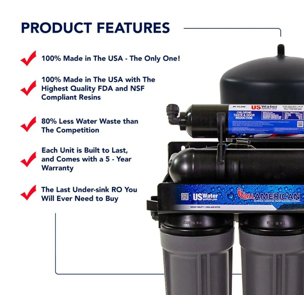 US Water Systems Product Features