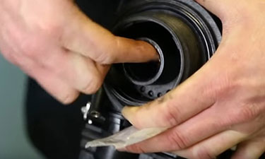 Lubricate the O-Ring that seals the Control Head to the Tank and also the surface where the Riser Tube slips into the bottom of the Control Head.