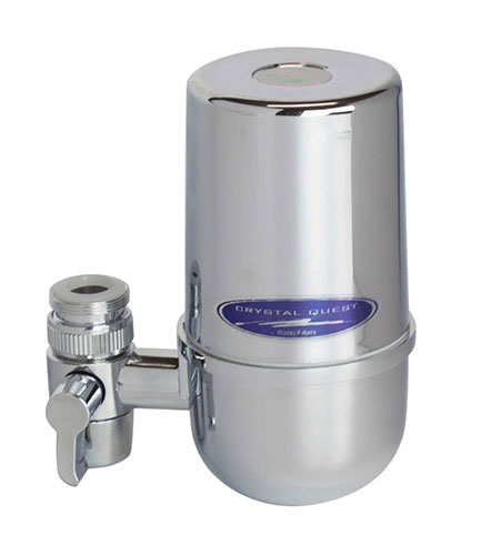 CrystalQuest Chrome Faucet Filter Housing