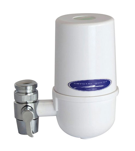 CrystalQuest White Faucet Filter Housing