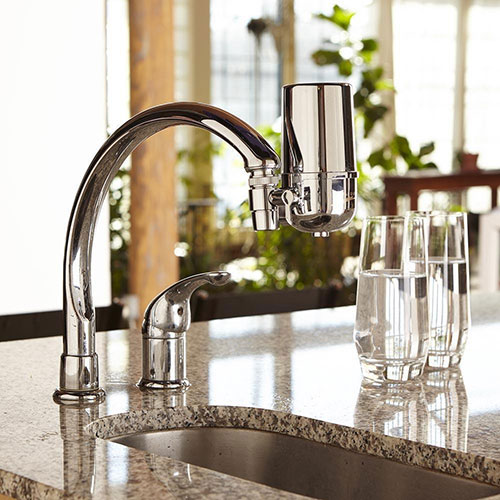 Crystal Quest's Faucet Mount Water Filter System