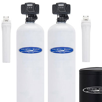 Crystal Quest, Whole House,Dual Water Softener and Filter System