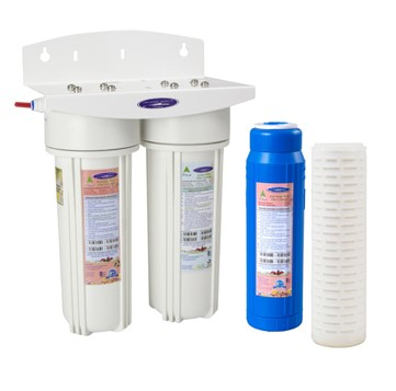 Crystal Quest Voyager Dual Inline Water Filter System with Filters.